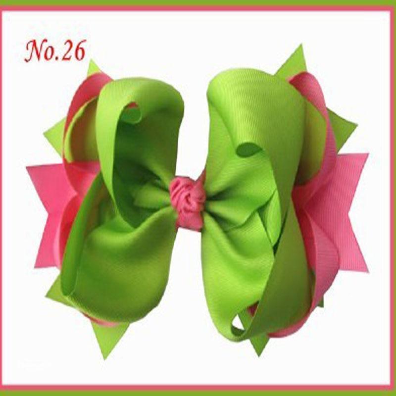 Новинка весны и лета высокое качество Grosgrain ленты/кружевное платье с принтом Дети аксессуары для волос 12 шт. 8 дюймов кольцо