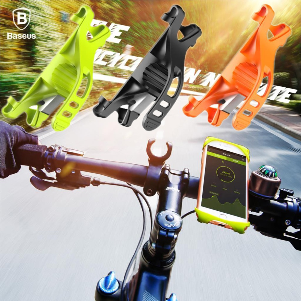 Baseus Universal Silicone Bike Phone Holder For iPhone7 6 For S8  For XIaomi Stand Mount Holder For Mobile GPS Handlebar Holder