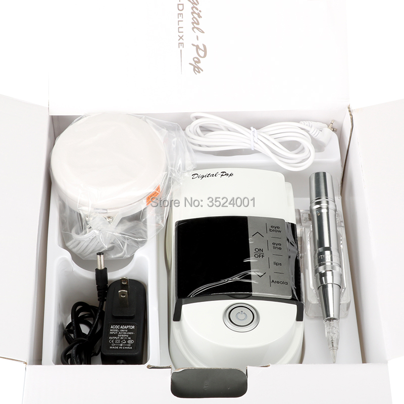 Professional Permanent Makeup Tattoo Machine Kit Set Digital Device Motor Tattoo Power Pen Supply For Eyebrow