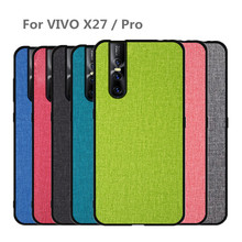 For Vivo X27 Case cover PRO back Luxury fabric shockproof Silicone Protection Coque for vivo x 27 x27 pro case