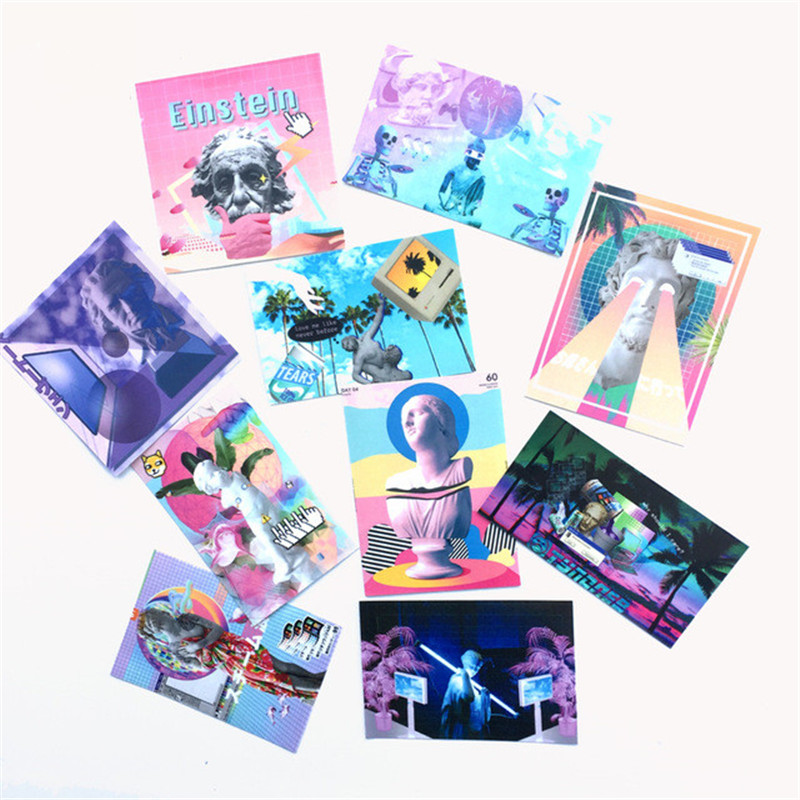 10 Pcs/set Vaporwave Art Famous Person Different Style Stickers For Pad Phone Case Laptop Car Skateboard Helmet Bicycle Suitcase
