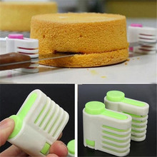 2pcs DIY Cake Slicers 5 Layers Pie Slicer Sheet Guide Cutter Server Bread Cutting Fixator Tools Kitchen Bakeware Tool