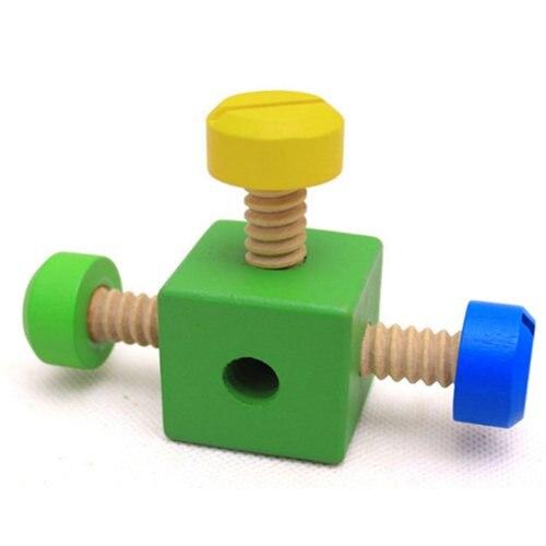 Vis en bois jouet éducatif bricolage assemblage montessori bébé intelligece variété multi-fonction écrou combinaison enfants puzzle - 5