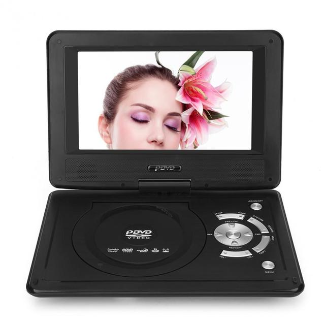 Portable HD DVD Player 9 inch LCD Screen Car TV Player FM Radio Receiver with Gamepad US Plug