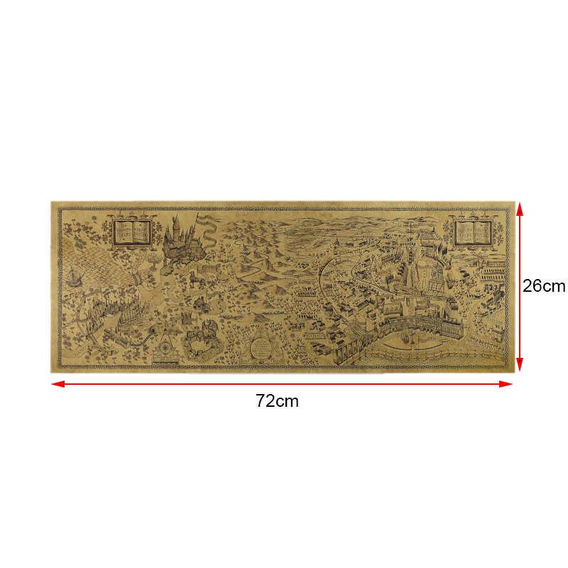 Классическая Гарри Поттер Магия мира географические карты известный вид Kraft бумага постер для бара/Кафе Ретро плакат декоративной живописи 72x26 см
