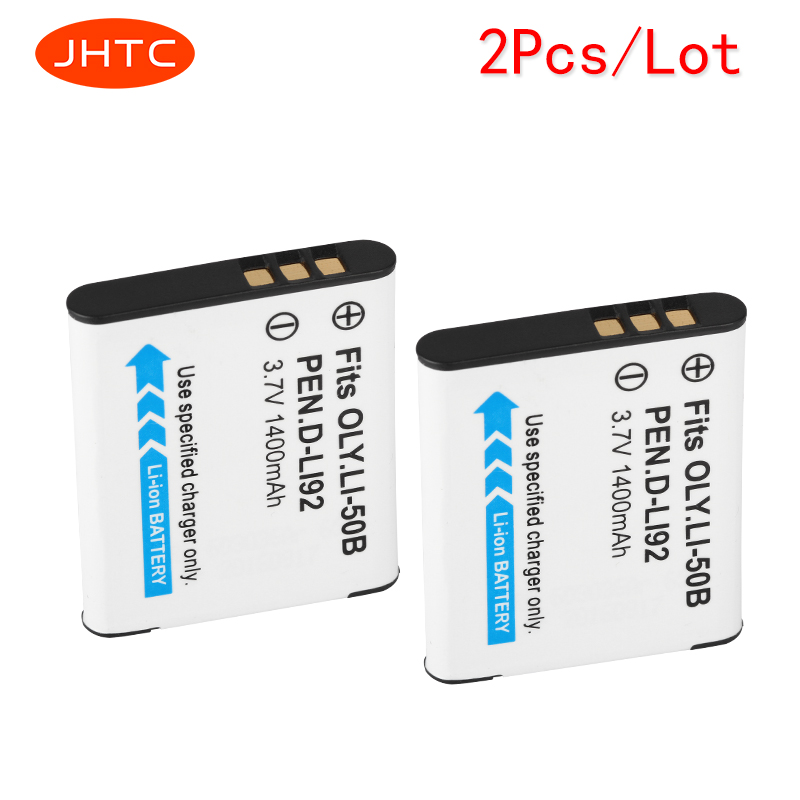 JHTC 2pcs/lot 1400mAh LI-50B LI 50B LI50B Camera Battery for Olympus LI-50B LI 50B LI50B for Pentax D-LI92 XZ-1 SP-800UZ SZ-30MR pentax sp 12x50