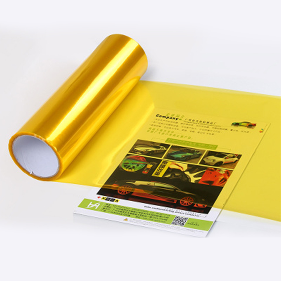 Self Adhesive Smoke Gloss Vinyl Headlight Foglight Tint Wrap Adhesive Cover Gold Yellow 0.3*10m Roll-in Car Stickers from Automobiles & Motorcycles