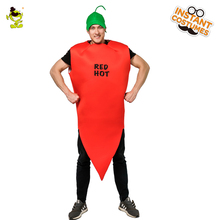 e942c15a9712e Men s Red Hot Chilli Pepper Costume Performance Halloween Party Hot Bodysuit  and Purim Party Hot Imitation