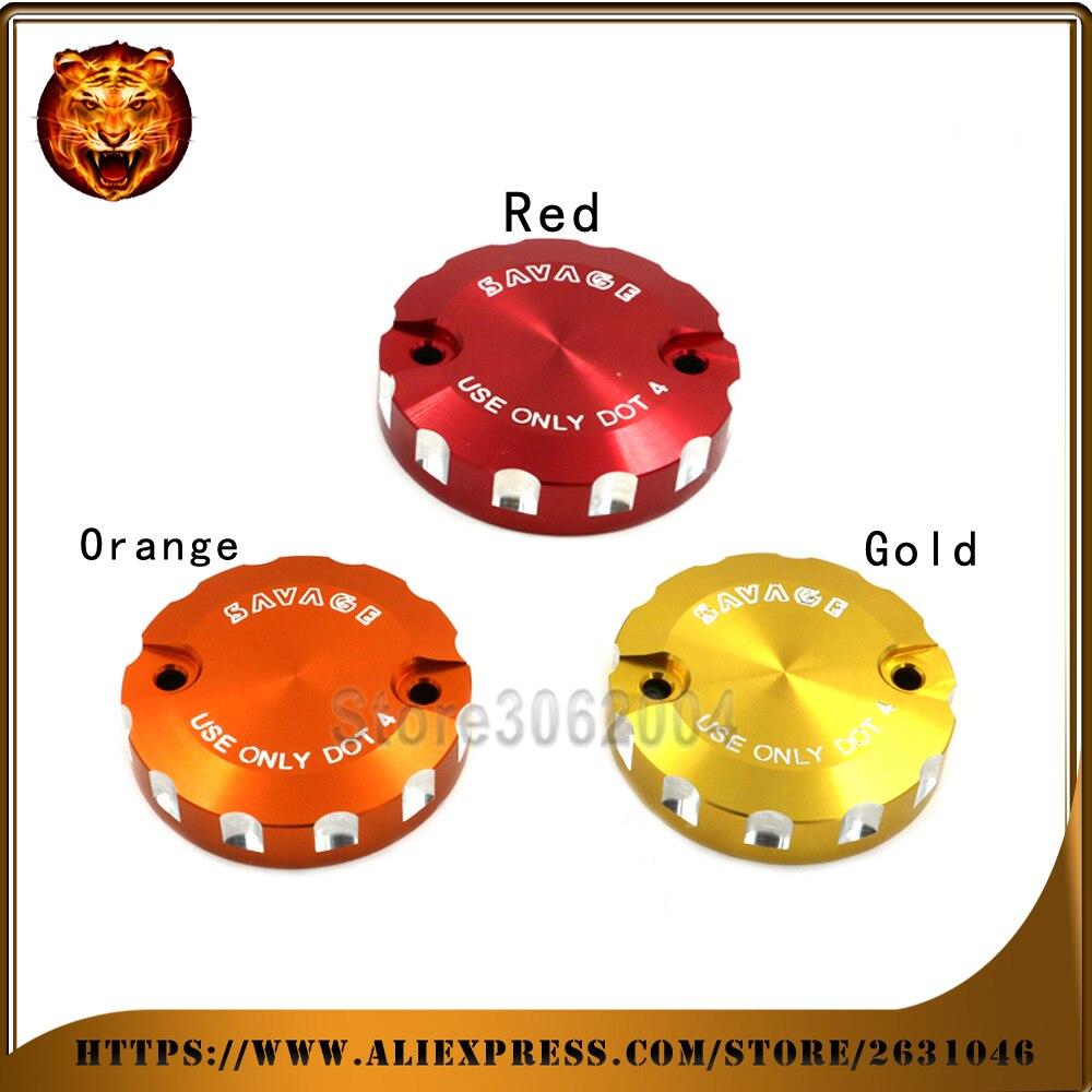 Motorcycle Front Brake Master Cylinder Fluid Reservoir Cover CAP For KTM 1190 Adventure/R  2013 2014 2015 2016 LOGO Orange cnc