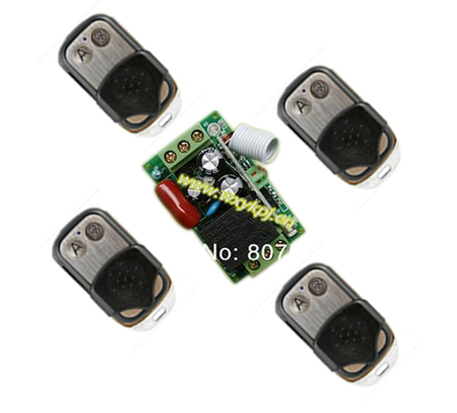 AC 220V RF Wireless Remote Control Switch System,315433 MHZ rf Learning code 4 Transmitter And Receiver