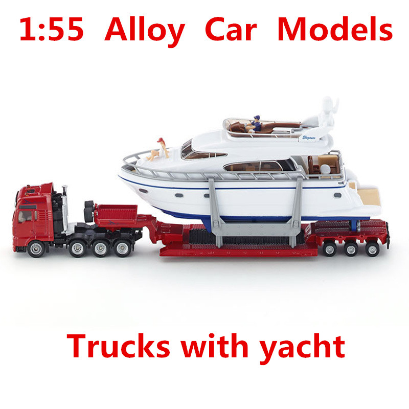 1:55 alloy car models, with high simulation truck yacht SIKU-U1849 model, metal diecasts, toy vehicles, free shipping bburago 360 challengr 1 24 alloy car model toys diecasts