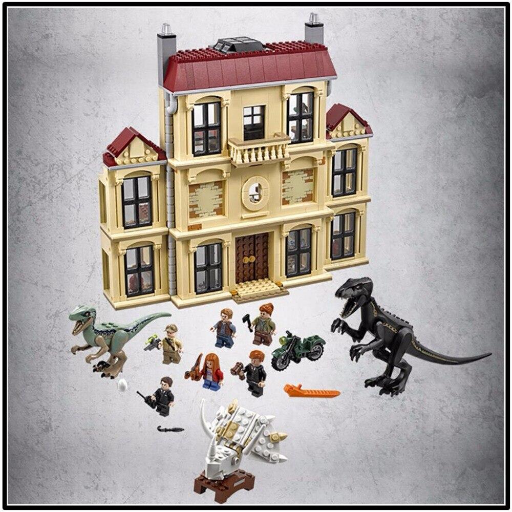 Dinosaure Indoraptor Saccage À Lockwood Immobilier 75930 blocs de construction Modèle Jouets Pour Enfants 10928 Compatible legoing