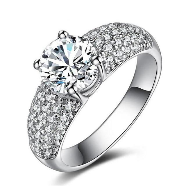 Quick Through Foreign Trade Wedding Ring Four Claw Fashion Good Quality Custom Korean Jewelry