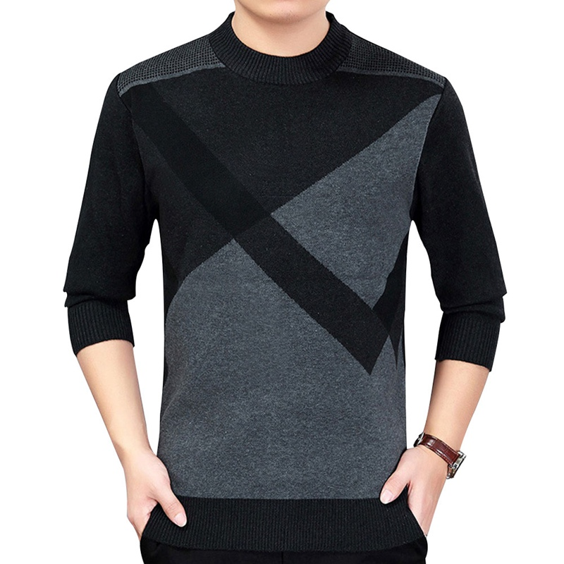 Men Autumn Winter O- Neck Knitted Sweaters Male Casual Autumn Pullovers Mens Thick Warm Top Plus Size