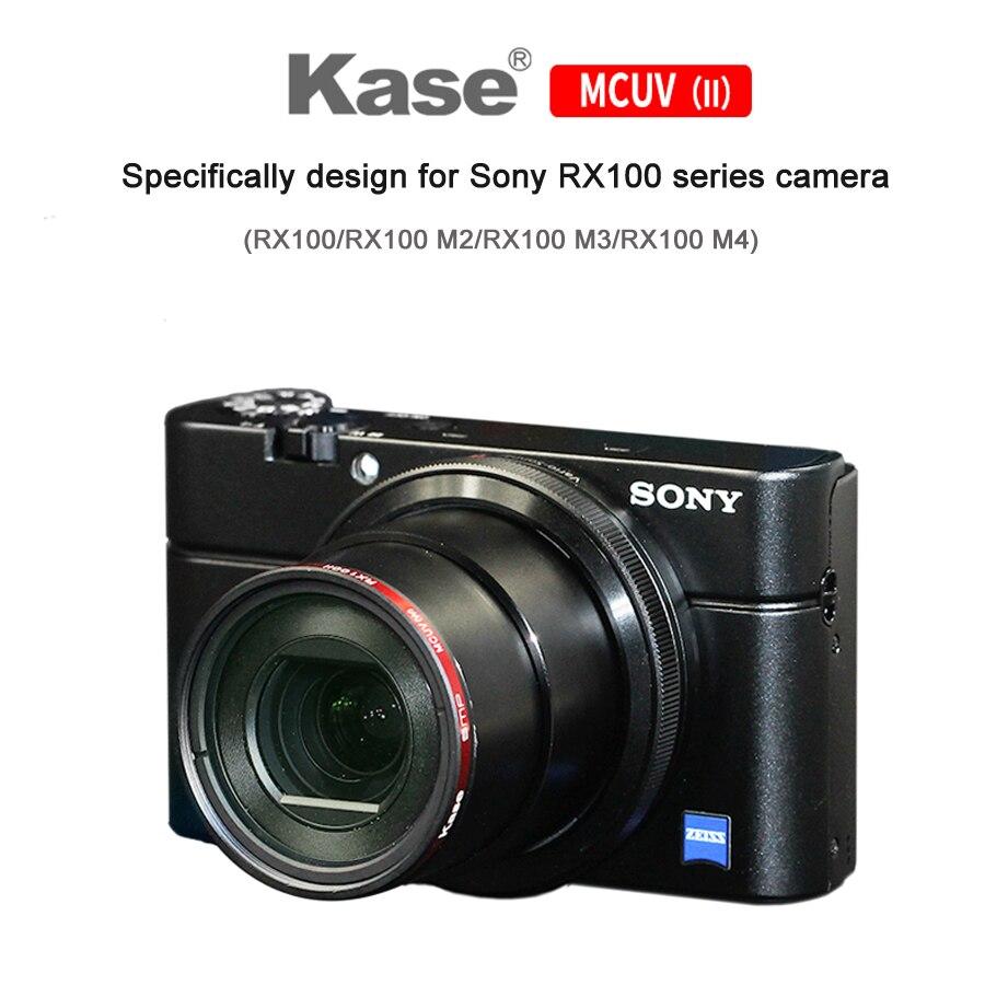 Filtre protecteur d'objectif MCUV UV Ultra mince résistant à la moisissure Kase pour appareil photo Sony RX100/RX100 M2/RX100 M3/RX100 M4