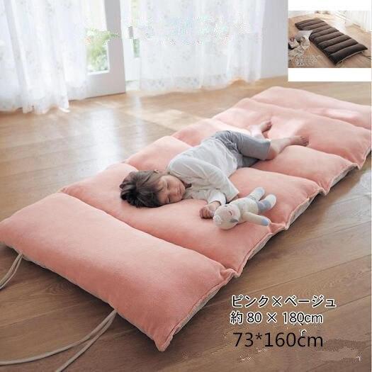 Maison Textile coussin de couchage enfants matelas plancher coussin bureau sieste coussin deux côtés utilisation 73*160 cm extérieur rose brwon