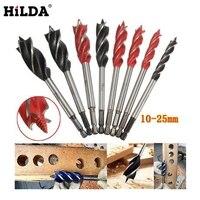 HILDA 8pcs Set 4 Cutters 10 25mm Center Drill Bit For Wood Cut Suit For Woodworking