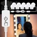 Spiegel Eitelkeit Glühbirne LED USB Wand Lampe 12V Stufenlos Dimmbar 2 6 10 14 Make-Up Dressing Tisch LED beleuchtung Schönheit Spiegel Lampe