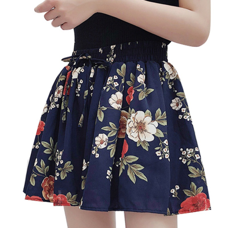Sexy Floral printing Women   Shorts   2018 Summer New elastic Waist loose   Shorts   Skirts Casual   Shorts   Female Hot