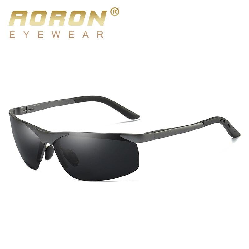 ce8d851491 AORON hombres Marco de aleación de aluminio polarizado gafas de sol mujer  marca Original gafas UV400 gafas de hombre de gafas