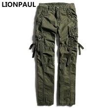 Lionpaul Продвижение Бросился тактические брюки мужские хлопок военных грузов город весной армейские повседневные солдат Поезд брюки карманы
