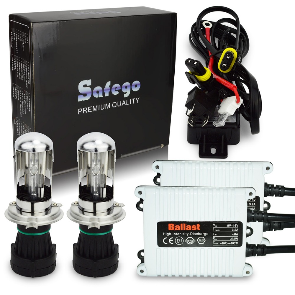 Safego AC 12V 35W HID hi/lo bixenon H4 kit 4300K 6000K 5000K 8000K 10000K 12000K Hi Low hid bi xenon h4 kit wire relay harness pilsan набор корзина с фруктами с 3 лет