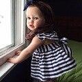 2017 set vestido vestidos + calças conjuntos de roupas de Bebê se adapte às meninas Infantil criança bebe roupas roupa dos miúdos menina vestido + calcinhas calções