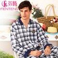 Sleepwear primavera e outono elegante de manga comprida moda salão z8618