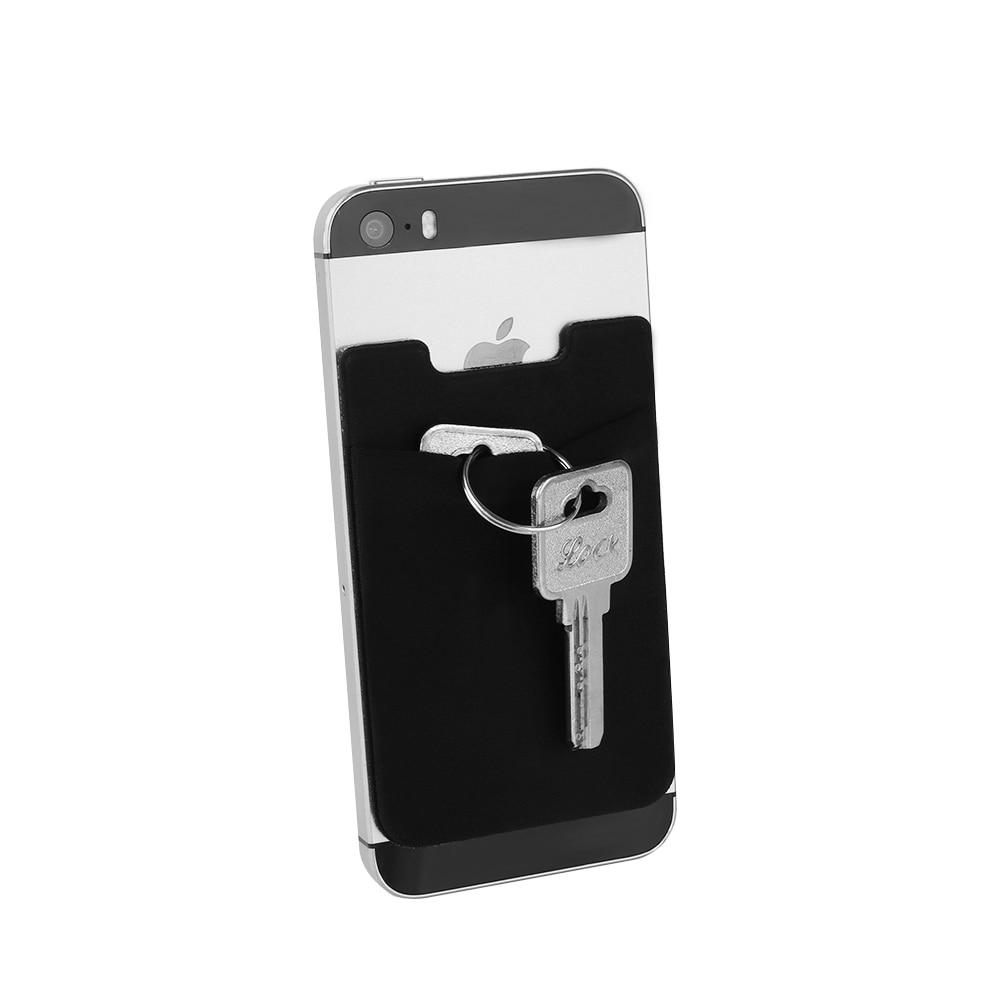 Модные эластичные телефона карман сплошной мобильный телефон, кошелек кредитных ID держатель для карт карман клей Стикеры лайкра аксессуар...