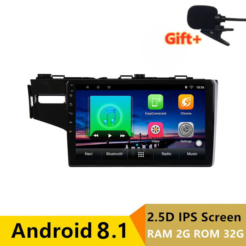 "10.1"" 2.5D IPS Screen 2G RAM 32G ROM Android Car DVD Player GPS For Honda Fit 2014 2015 2016 audio radio stereo navigation"