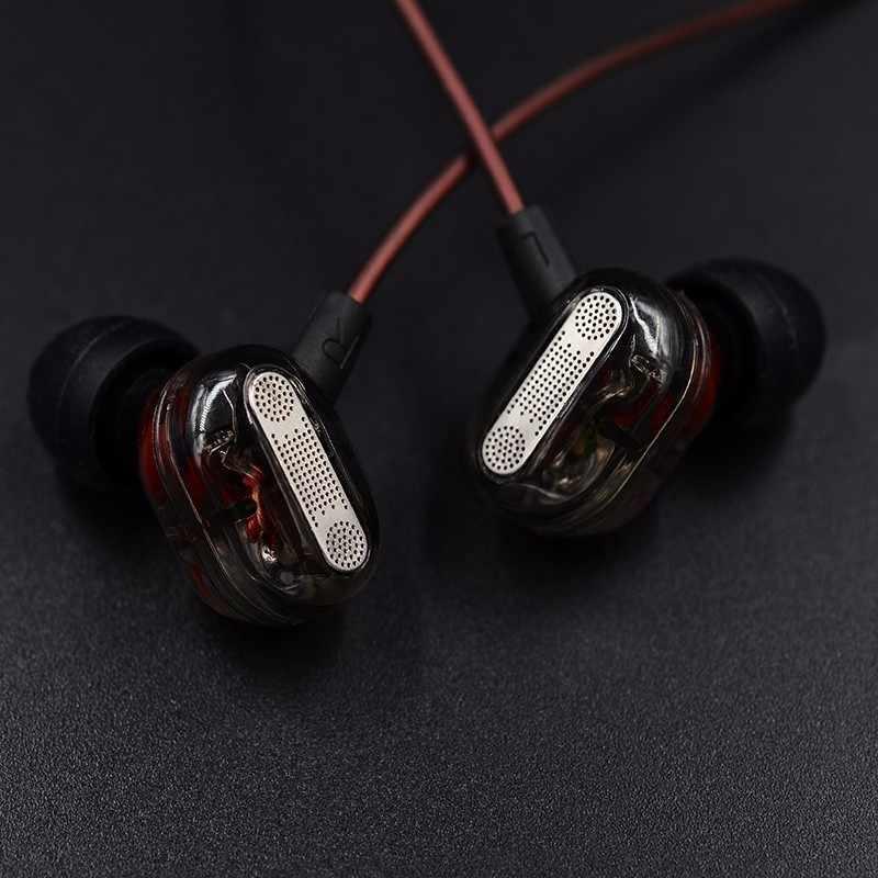 KZ ZSE dynamiczny podwójny sterownik słuchawki w zestaw słuchawkowy monitory Audio słuchawki hałas izolowanie HiFi muzyka słuchawki sportowe