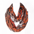 2016 The Most Popular Style Novelty Ring Women Scarf Loop Infinty Scarves Black Stripe Print Size 180*50cm No.07101