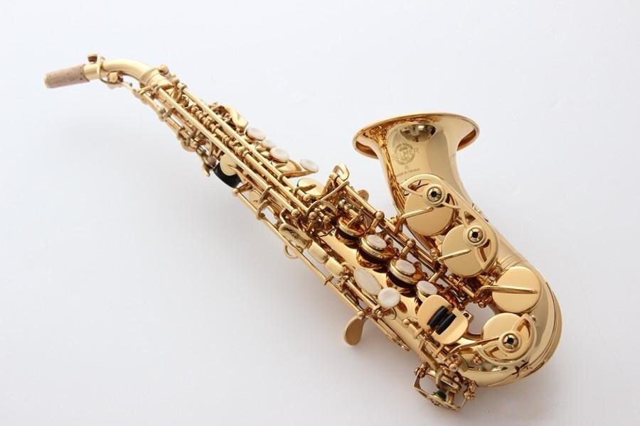 Selmer France изогнутые Саксофон сопрано латунь мундштук саксофона музыкальный инструмент патчи колодки Reeds изгиб шеи с случае Бесплатная