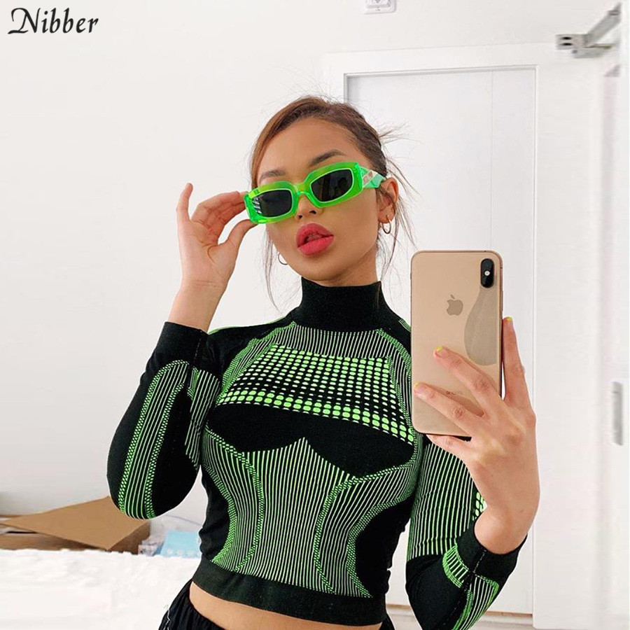 Nibber hot sale Women Basic T-<font><b>shirt</b></font> Tops Autumn winter Active Wear Slim Long sleeve T-<font><b>shirt</b></font> popular green <font><b>blue</b></font> wild Sports top image