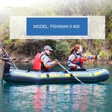 outdoor inflatable 3 preson inflatable boat fishing boat 295*128*43cm Aluminium oar hand pump repair kit dinghy raft A07003