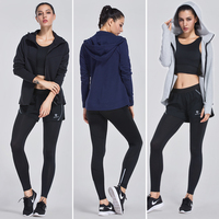 Autumn Winter Fitness Sportswear Mens Womens Sports Suits Winter Running Jackets Pants Sets Breathable Hooded Training