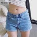 Mlanxeue new classic mujeres pantalones vaqueros de cintura alta stretch pantalones cortos de mezclilla delgada vaqueros feminino primavera y verano más el tamaño de los pantalones vaqueros