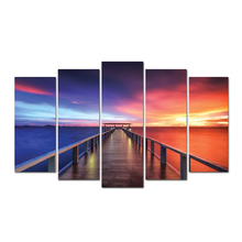 5 panel Seaview Sky Large HD Picture Modern Home Wall Decor Canvas Print Oil Painting Free Shipping Abooly