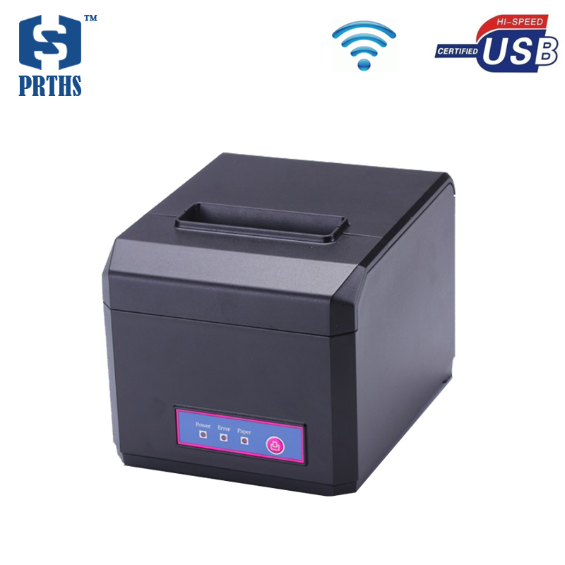 Горячие торговый центр чековый принтер дешевые 80 мм Wi Fi pos принтер для билетов машина с резак поддержка 58 и 80 мм термобумага hs e81uw
