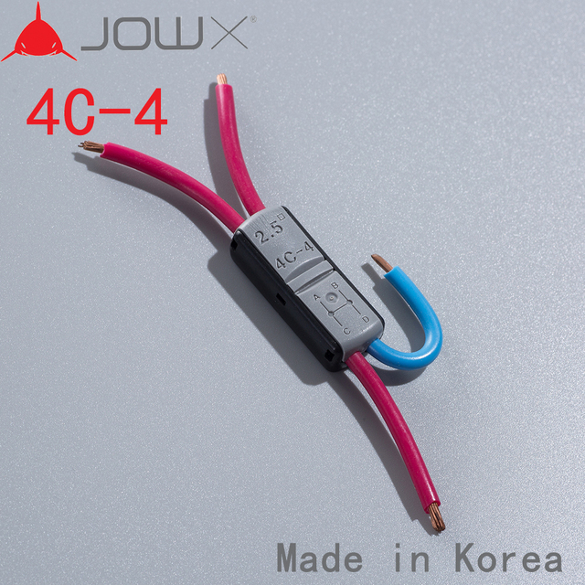 JOWX 100PCS For 14 13 AWG 2.5mm2 FOUR WIRES CONNECT EACH OTHER Non ...