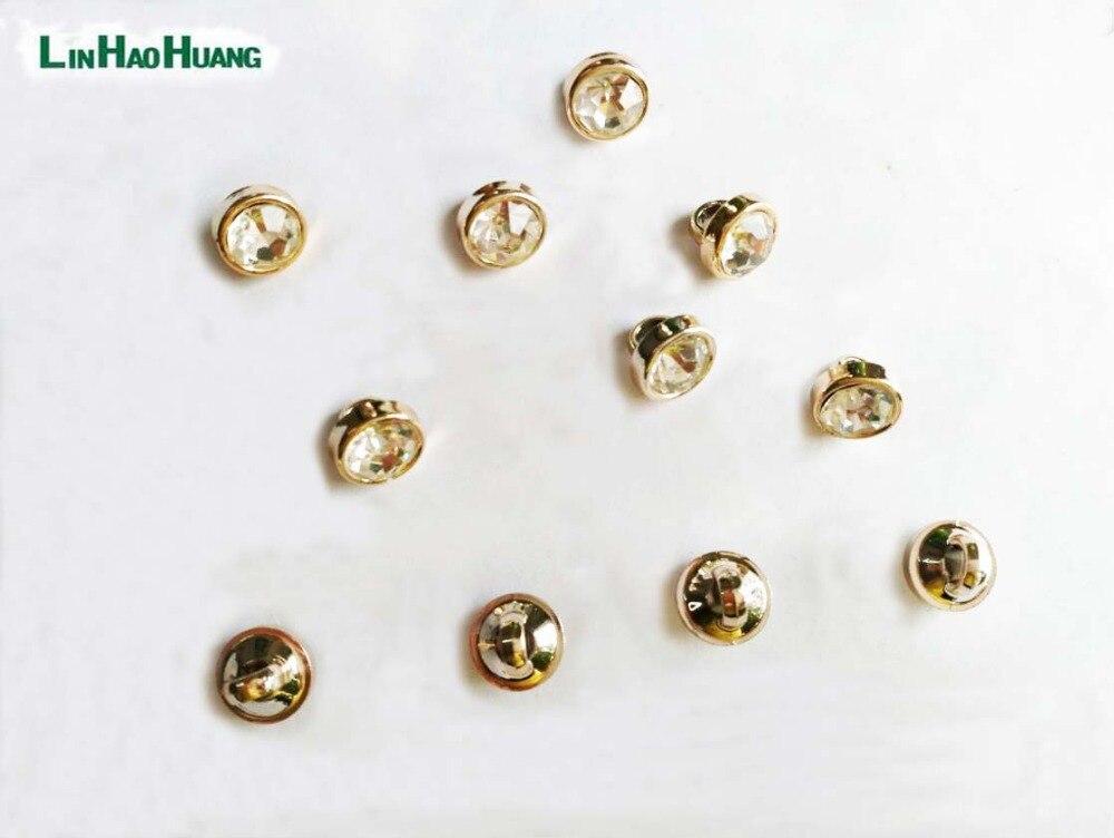 ツ)_/¯60 unids 8mm aleación de metal botones de costura lacado ...