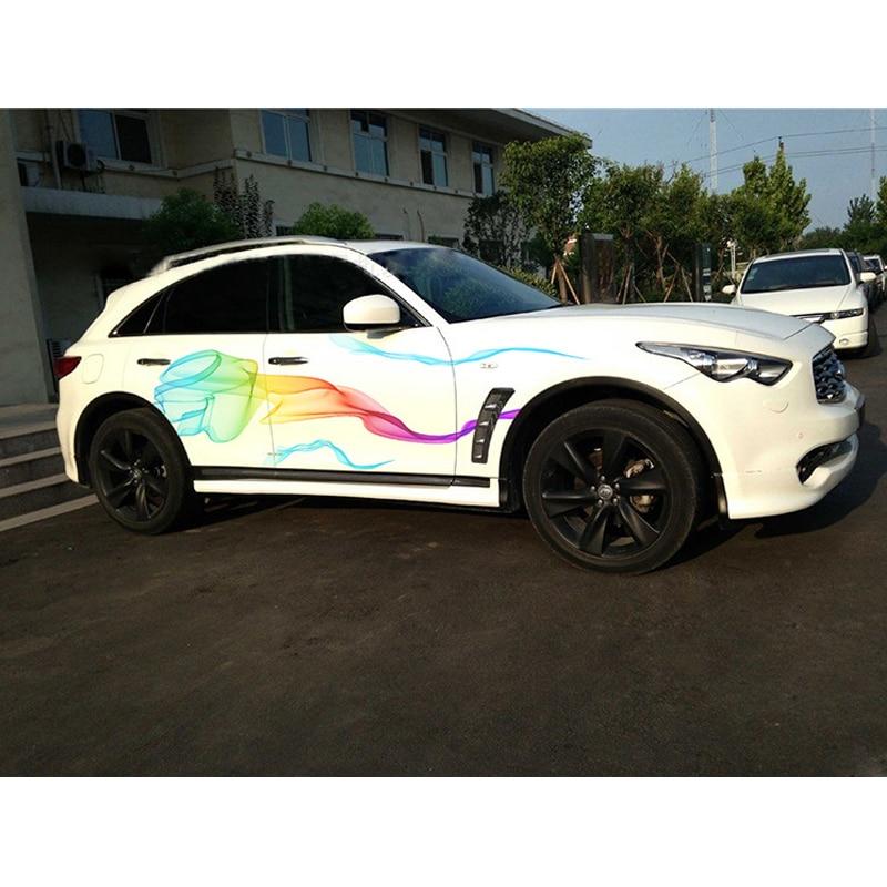 Nouveau coloré 210 CM voiture autocollant style dégradé décalque tout le corps vinyle décor voiture carrosserie couverture Auto accessoire mode voiture réaménagement
