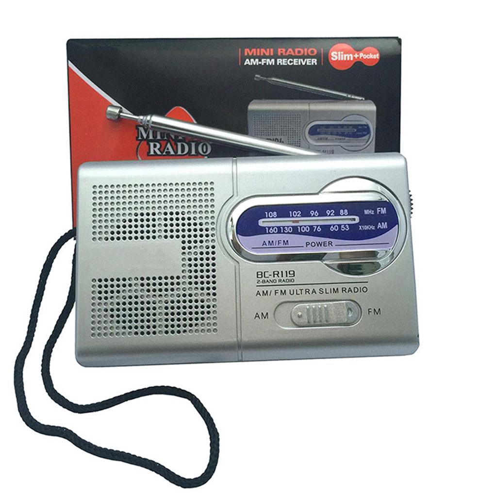 Unterhaltungselektronik Kenntnisreich Bc-r119 Am Fm Tragbare Mini Radio 2-band Wireless Receiver Musik Player Versenkbare Antenne Dc 3 V Stabile Konstruktion Radio