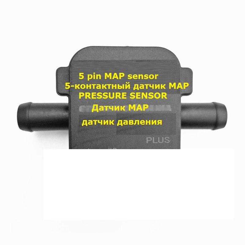 Alta qualidade gpl cng mapa sensor de 5 pinos sensor de pressão de gás para lpg cng kit de conversão para carro