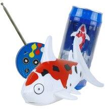 Mini Coke Dapat RC Perahu Hiu Bentuk Perahu RC Mainan 3CH 27/40 MHz Radio Elektronik Mainan Remote Control untuk Anak-anak Anak-anak Natal Hadiah