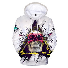 2019 new Skull headr Men Hoodies 3D Printed Funny Hip hop Novelty Streetwear Hooded Autumn Jackets Mlae Dropshopping