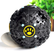 Hot Sale Pet Funny Squeaky Sound Leakage Food Ball Pet Dog Toys Cat Toy May issue shrieking Training Plus size Toys WJ-011