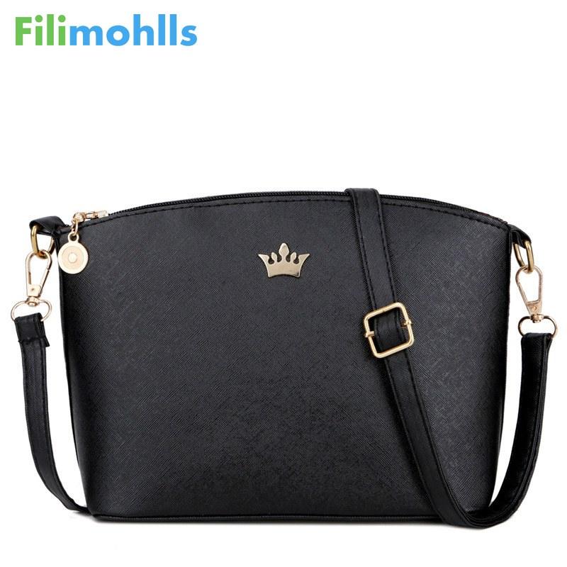 2018 Brand ladies shoulder bags new small joker leisure Imperial crown shell package high quality women shopping handbags S1272