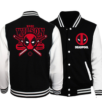 2017 Spring Hot Men Baseball Jacket Deadpool Men Coat Batman 2/ The Flash/ The Punisher Men Jackets Slim Fit brand-clothing