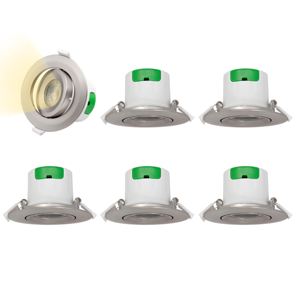 Metal Color Directional LED Recessed Ceiling Spot Lamps Spotlight Downlights 7W Warm White 3000K Hole Diameter 70-75MM 6 LampsMetal Color Directional LED Recessed Ceiling Spot Lamps Spotlight Downlights 7W Warm White 3000K Hole Diameter 70-75MM 6 Lamps